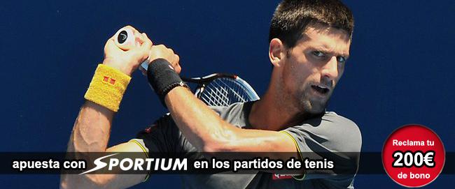 Registrate con Sportium y recibe tu bono de bienvenida para empezar apostar en los partidos de tenis