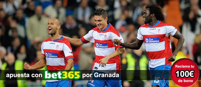 Bet365 te da 100 euros como bono de bienvenida si te registras para apostar en lso partidos de la Liga BBVA