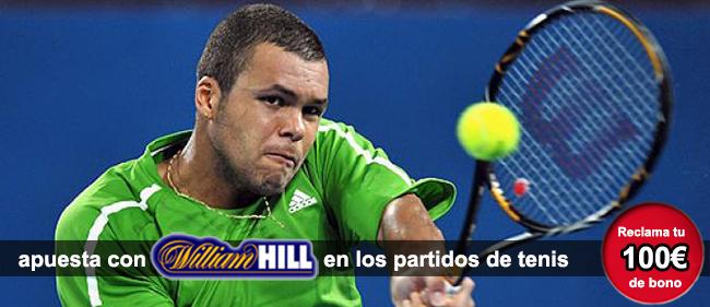Apuesta con William Hill en los partidos de tenis y recibe 100 euros como bono de bienvenida