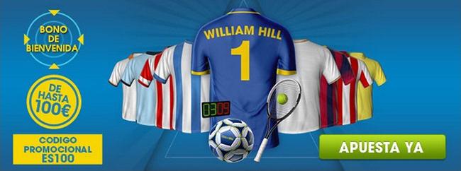 Registrate con William Hill y recibe tu bono de bienvenida para empezar apostar en tu deporte favorito