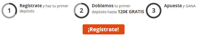 Registrate con Luckia