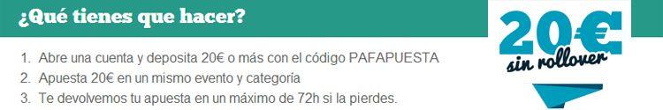 Registrate y apuesta con Paf
