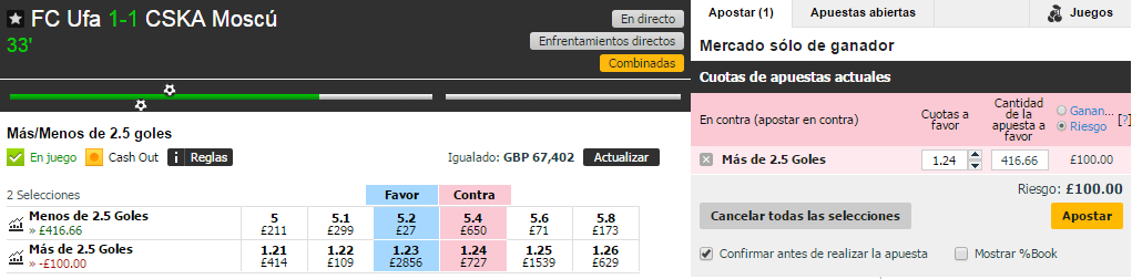 Apuesta con Betfair Exchange