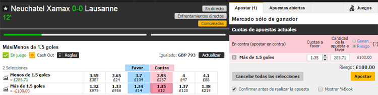 Apuesta Betfair Exchange