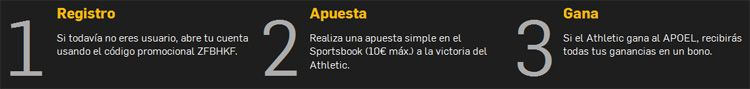 Registrate y apuesta con Betfair