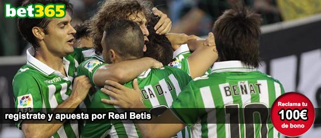 Bet365 te da 100 euros como bono de bienvenida para empezar a apostar en el partido Real Madrid vs Real Betis