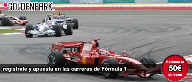 Apuesta en las carreras de formula 1 con GoldenPark y recibe tu bono de bienvenida