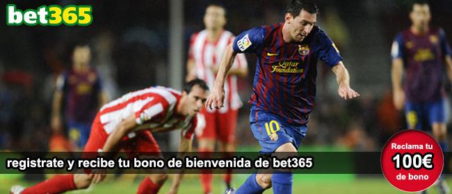 Registrate y recibe tu bono de bienvenida para apostar en los partidos de futbol con bet365