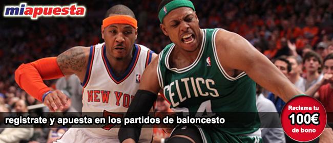 Miapuesta te ta 100 euros como bono de bienvenida para empezar a apostar en los partidos de la NBA