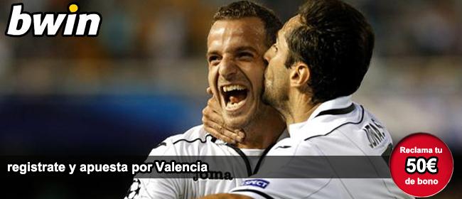 Bwin te da 50 euros como bono de bienvenida para apostar en el partido Valencia vs Barcelona