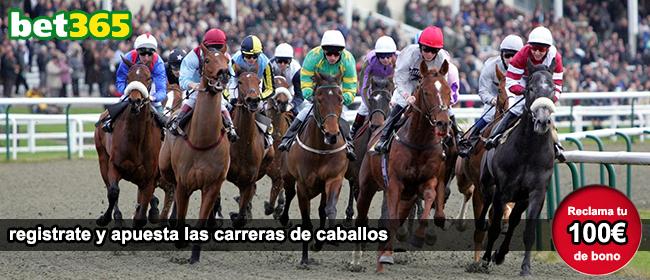 Apuesta en las carreras de caballos con Bet365 y recibe tu bono de 100 euros