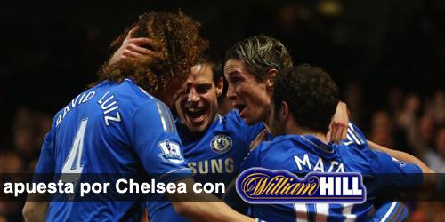 Registrate con William Hill y recibe tu bono de bienvenida para apostar por Chelsea.