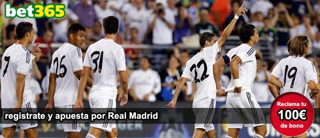 Apuesta con Bet365 por Real Madrid y recibe el bono de bienvenida
