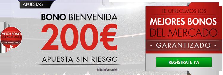 Registrate con Sportium y pide tu bono de 200 euros