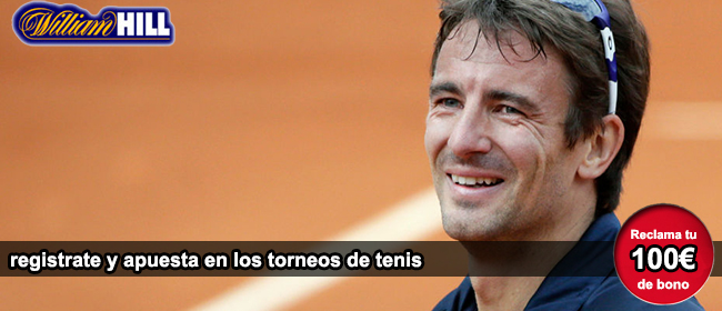 Registrate con William Hill y recibe tu bono de 100 euros para apostar en los torneo ATP