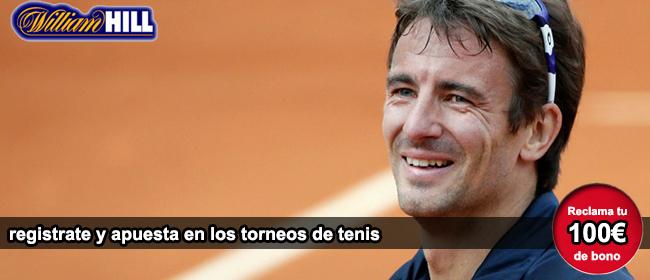 Registrate con William Hill y recibe tu bono de 100 euros para apostar en los torneo ATP