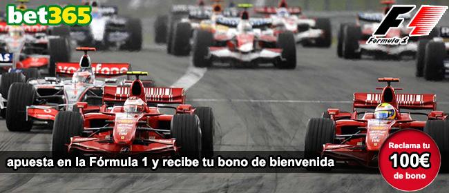 Registrate con bet365 y apuesta en las carreras de formula 1