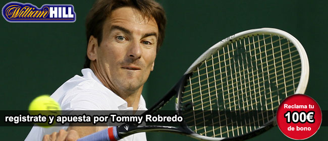 Apuesta con William Hill por Tommy Robredo