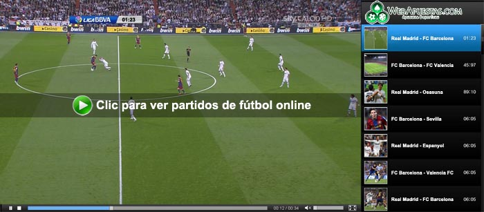 ver partidos de futbol por internet:
