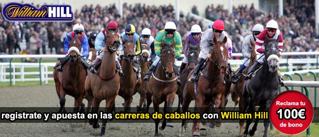 registate con william hill y recibe tu bono de bienvenida para apostar en las carreras de caballos