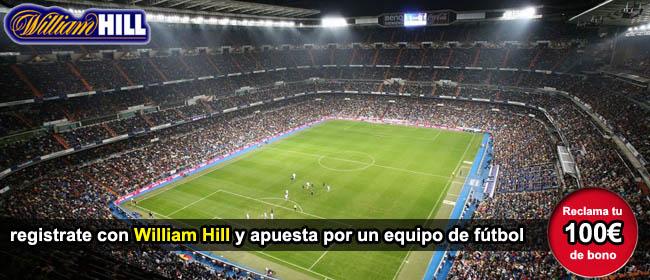 registrate con william hill y apuesta por futbol