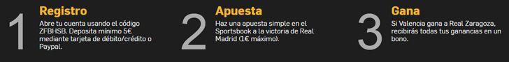 Apuesta por la victoria de Valencia