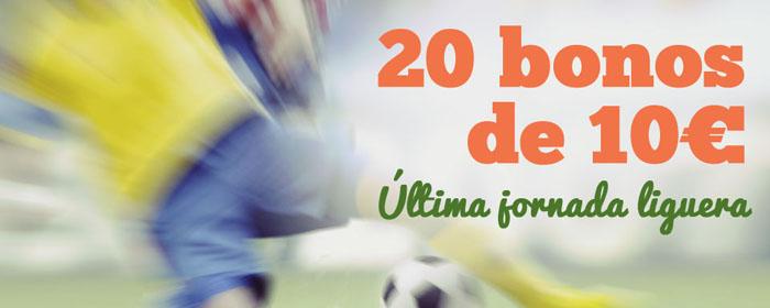 Paf sortea 20 bonos de 10€ para la última jornada de la liga BBVA