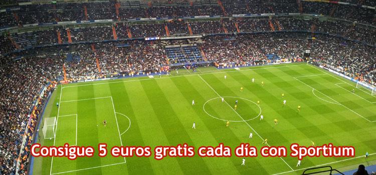 Consigue 5 euros gratis cada día con Sportium