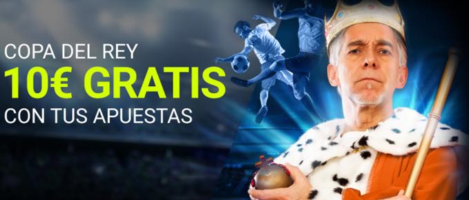 Consigue 10€ gratis al apostar en la Copa del Rey