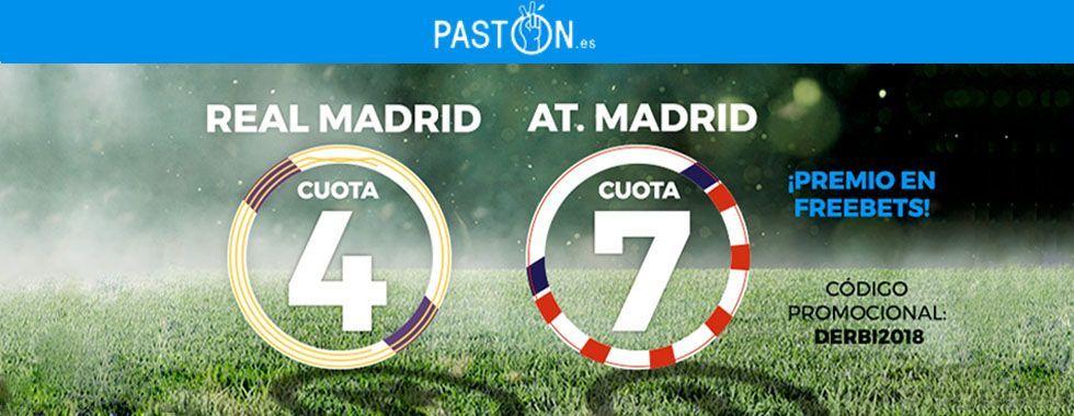 Apuesta con Pastón en el derbi Real Madrid - Atlético de Madrid