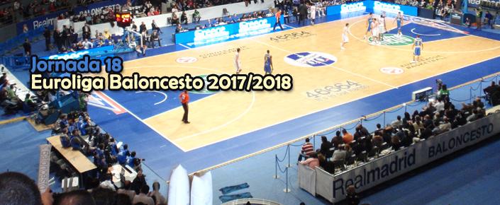 Previa y apuestas jornada 18 de la Euroliga de baloncesto