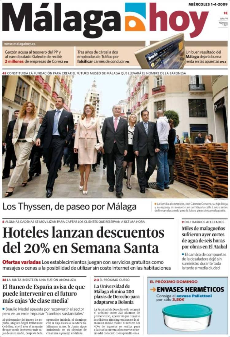 Málaga: Apuestas por periódicos
