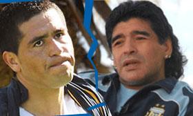 Argentina: Maradona vs Riquelme