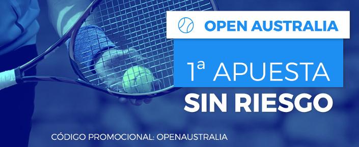 Haz tu apuesta sin riesgo en el Open Australia 2018