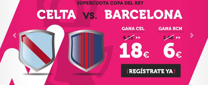 Supercuota Wanabet para el partido Celta - Barcelona