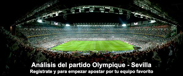 Análisis del partido Olympique - Sevilla
