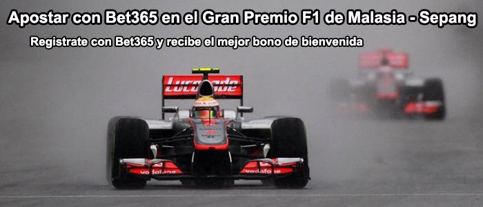 Apuesta con Bet365 en el Gran Premio F1 de Malasia - Sepang