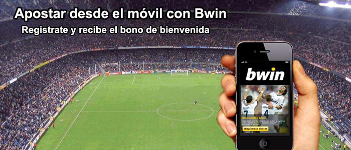 Apostar desde móvil con Bwin