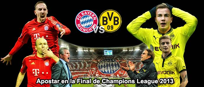 Apostar en la Final de Champions League 2013