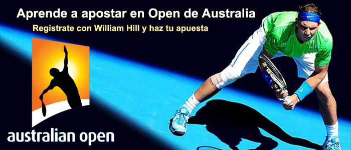 Aprende a apostar en Open de Australia con William Hill