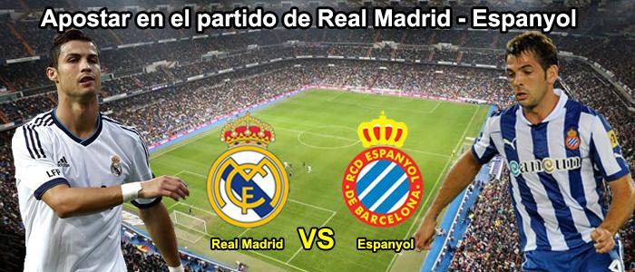 Apostar en el partido de Real Madrid - Espanyol