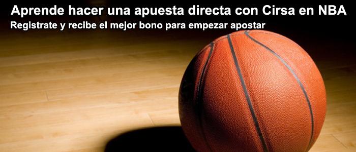 Aprende hacer una apuesta directa con Cirsa en NBA