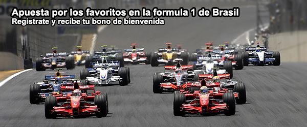 Apuesta por los favoritos en la formula 1 de Brasil