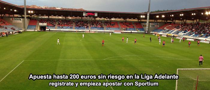 Apuesta hasta 200 euros sin riesgo en la Liga Adelante