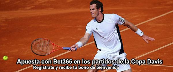 Apuesta con Bet365 en los partidos de la Copa Davis