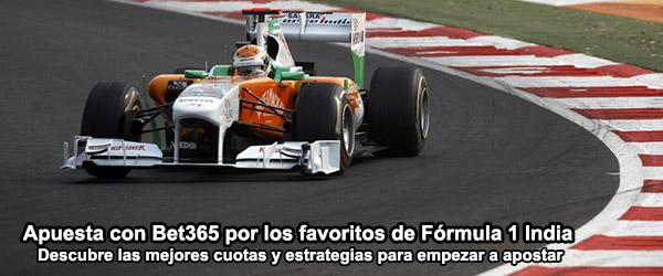 Apuesta con Bet365 por los favoritos de Formula 1 India