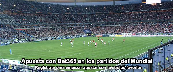 Apuesta con Bet365 en los partidos del Mundial de Fútbol 2014