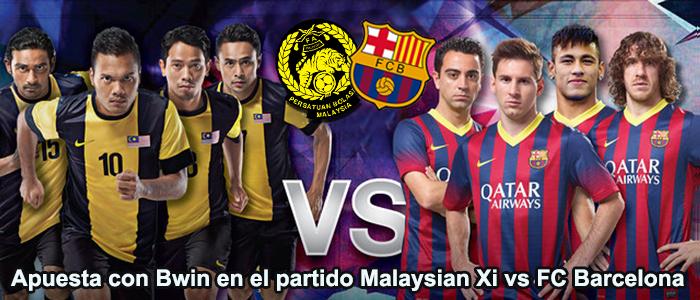 Apuesta con Bwin en el partido Malaysian Xi vs FC Barcelona