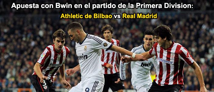 Apuesta con Bwin en e partido de la Primera Division: Athletic de Bilbao vs Real Madrid