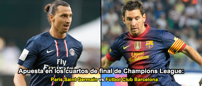 Apuesta en los cuartos de final de Champions League: FC Barcelona - PSG